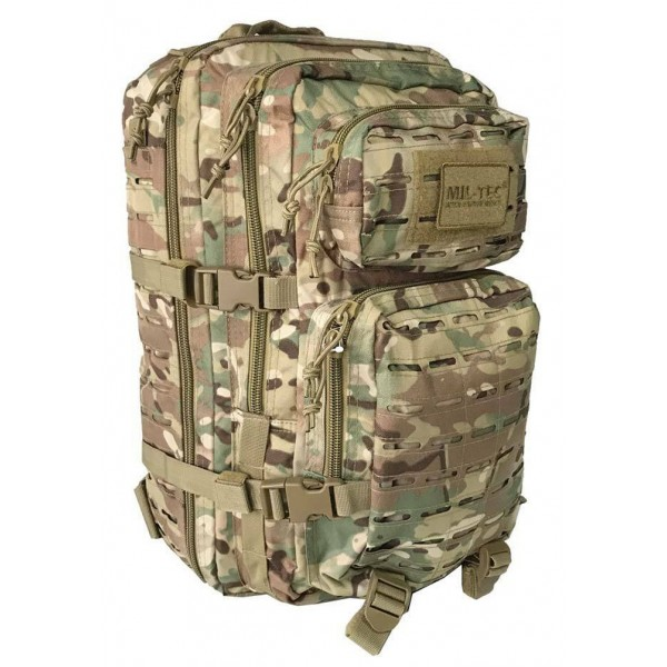 Mochila Miltec US Assault Pack LG 36 Litros Laser Cut Multitarn 14002749