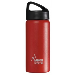Laken Botella Térmica Roja  0,5 Litros Acero Inox. Boca Ancha TA5R