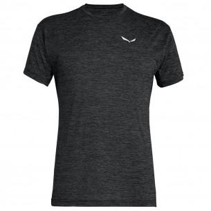 Salewa Camiseta Puez Melange Dry M/C Black Out Melange