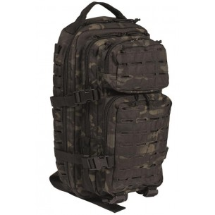 Mochila Mil-Tec US Assault SM 20L. Pack Laser Cut Multitarn Black 14002669