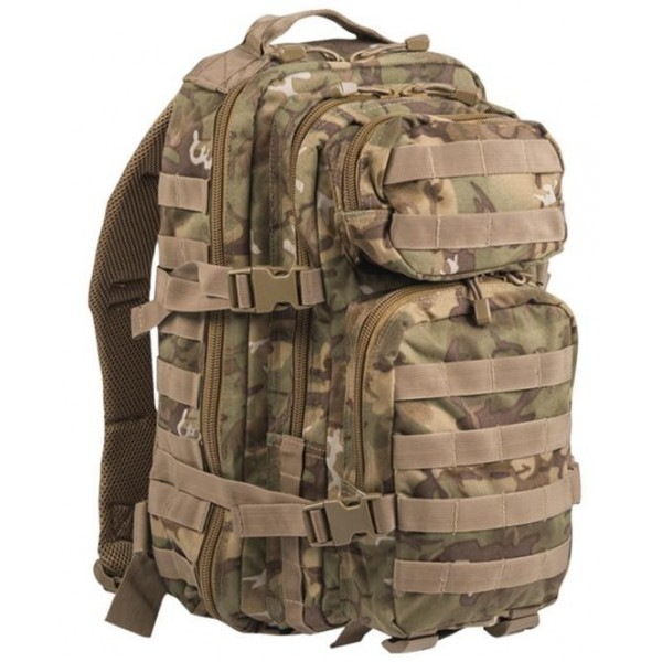 Mochila Mil-Tec US Assault Pack SM 20 Litros Woodland Arid 14002056