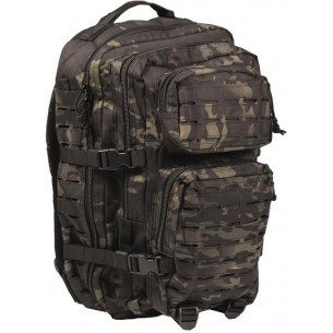 Mochila Miltec US Assault Pack LG Laser Cut Multitarn Black 14002769