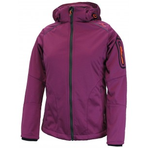 Chaqueta Campagnolo Softsell Zip Hood Berry-Tangeri 111Q