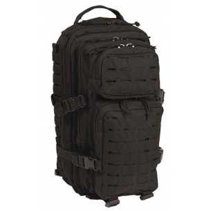 Mochila Mil-Tec US Assault Pack SM 20 Litros Laser Cut Negro 14002602