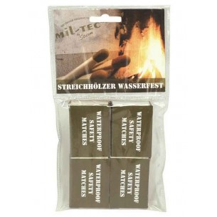 Cerillas Mil-Tec Waterproof Pack 4 15234000