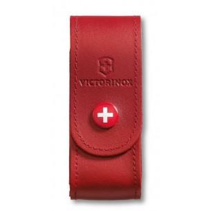 Funda Victorinox Cuero Roja Pequeña V.40520.1