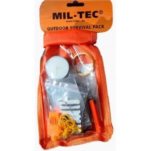Kit de Supervivencia Mil-Tec Pequeño Naranja 16027400