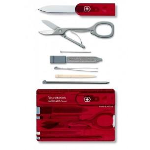 Victorinox Swisscard Classic Roja Transp. V.07100.T