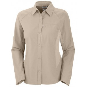 Columbia Camisa Silver Ridge M/Larga Beige AM9154