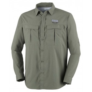 Columbia Camisa Cascades Explorer M/Larga Verde AM9154