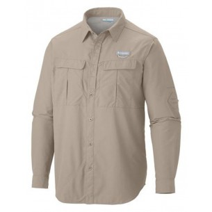Columbia Camisa Cascades Explorer M/Larga Beige AM9154