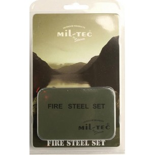Mil-Tec Firesteel Kit con caja 15275000