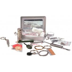 Kit Supervivencia Mil-Tec en Caja Metálica 16027100