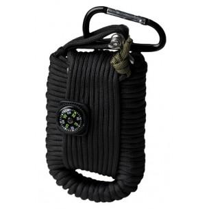 Mil-Tec Kit Paracord Survival Grande Negro 16027702