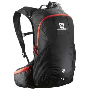 Salomon Mochila Trail 20 Black Bright Red