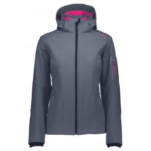 Chaqueta CMP Campagnolo Softsell Zip Hood Asphalt Magenta 3A05396 13BB