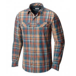 Columbia Camisa Silver Ridge Plaid Blue Heron