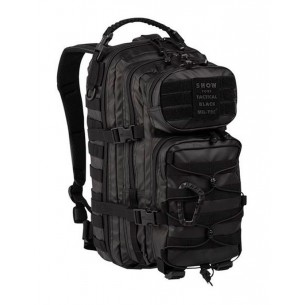 Mochila Táctica US ASSAULT Tactical Black Mil-Tec SM 20L. Negro 14002088
