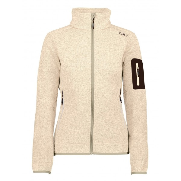 Chaqueta CMP Campagnolo Knitted Melange Sand/Bianco 3H14746 40BH