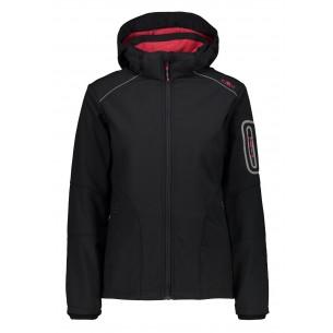 Chaqueta CMP Campagnolo Softsell Zip Hood Nero/Granita 3A05396 24BH