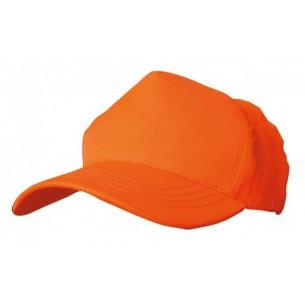 Benisport Gorra 5 Paneles Naranja Flúor 101O